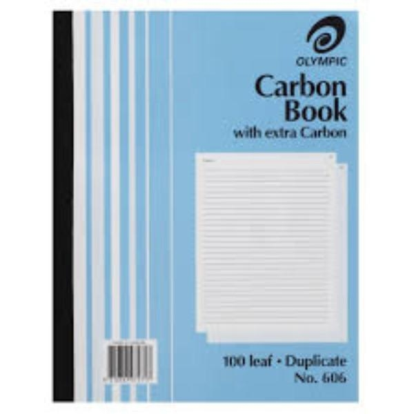 BOOK CARBON DUP OLYMPIAN 606 GEN/STAT