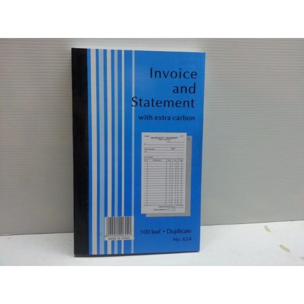 BOOK INVOICE DUP 624 ER - Click for more info