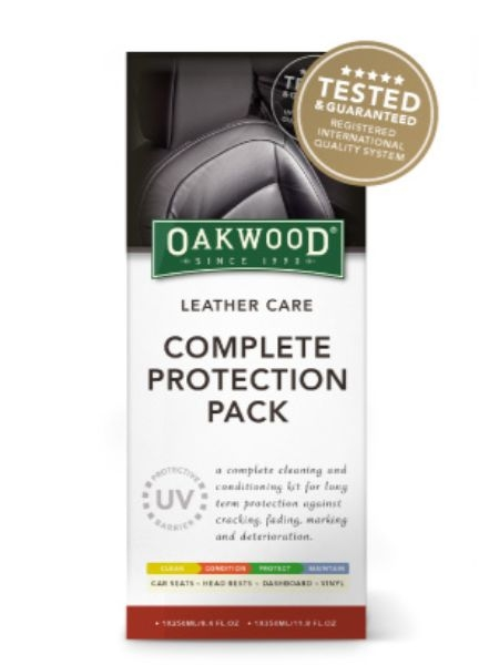 LEATHER CARE PROTECTION PACK COMPLETE OAKWOOD