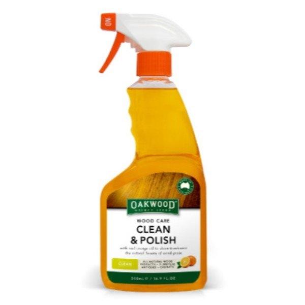 WOOD CARE CLEAN & POLISH 500ML OAKWOOD