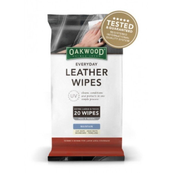 EVERYDAY LEATHER WIPES WITH UV PROTECT OAKWOOD