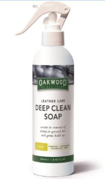 LEATHER CARE DEEP CLEAN SOAP 250ML OAKWOOD