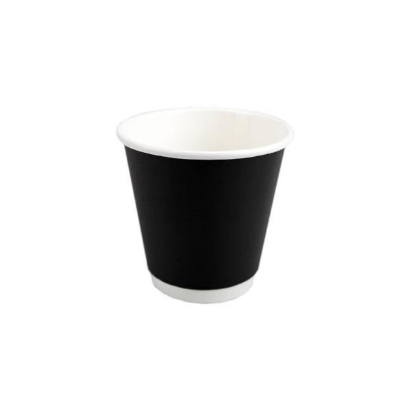 CUP 4oz COFFEE BLACK PK25  (CTN500) - Click for more info
