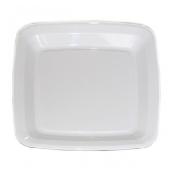 "PLATTER 12"" SQUARE ANCHOR FOOD SERVICE WHITE EACH (PK10)  (C"