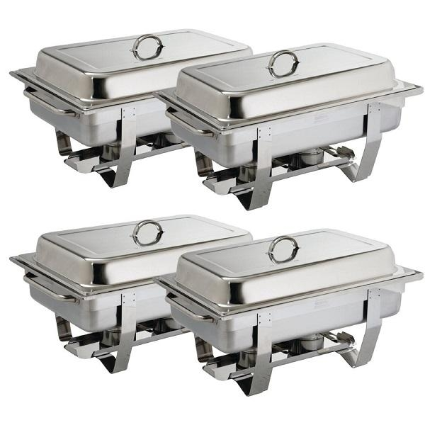 STAINLESS STEEL CHAFER 1/1 COMPLETE SET EACH (CTN 4)
