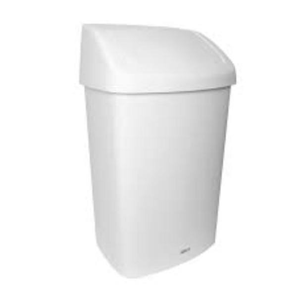 BIN RUBBISH SWING WHITE 50 LITRE