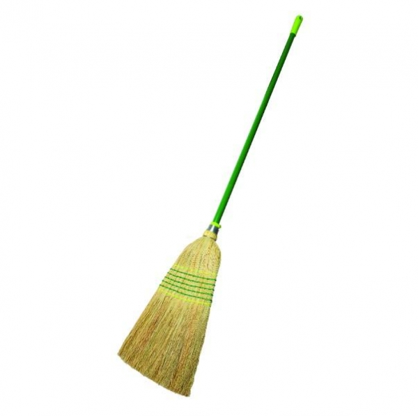 BROOM 7 TIE MILLET W/HANDLE SABCO