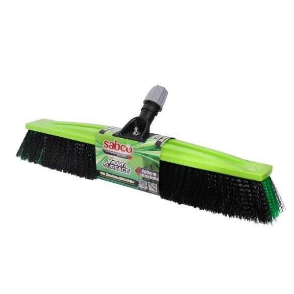 BROOM HEAD ONLY CTN 4 PROFESSIONAL 450MM SM/ROUGH SABCO