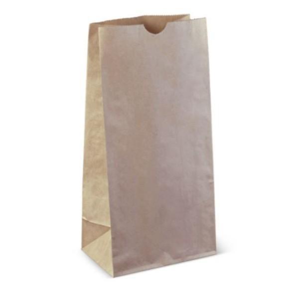 BAG BROWN PAPER SOS 8 315x154x100 PK50 (INNER 500) (CTN1000)
