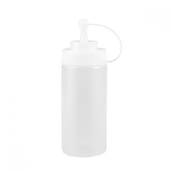 SAUCE BOTTLE 720ML CLEAR WITH CAP