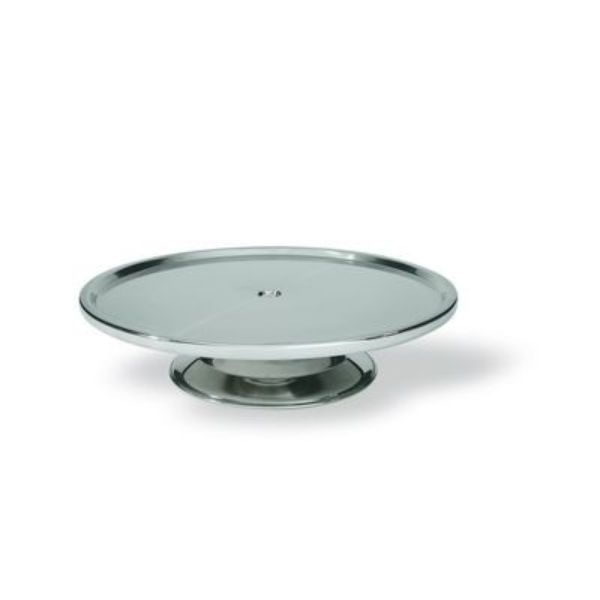 CAKE STAND STAINLESS STEEL 300MM(W), 70MM,(H)