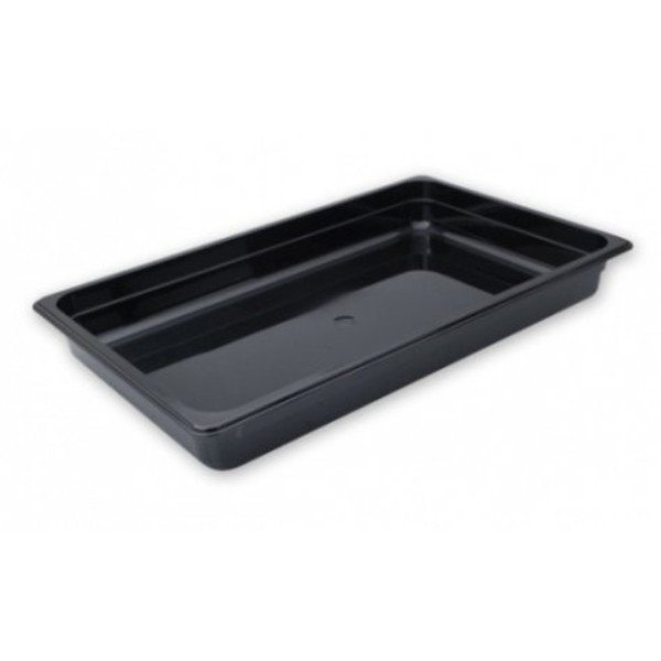STEAM PAN 1/1 100mm DEEP BLACK POLYCARBONATE 530x325mm
