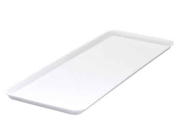 PLATTER RECTANGLE SANDWICH / CAKE DISPLAY WHITE 390 x 150mm - Click for more info