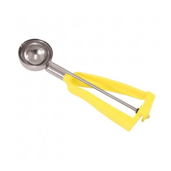 ICE CREAM SCOOP BONZER NO2 YELLOW 53ML 55mm WIDE STAINLESS STEEL