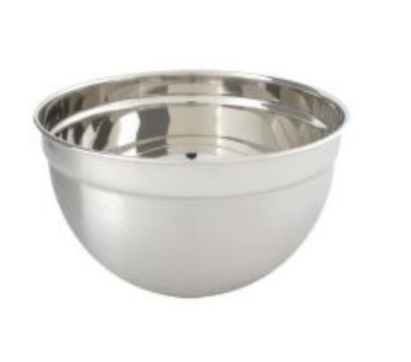 BOWL STAINLESS STEEL DEEP 18/10 240X102MM 5LTR