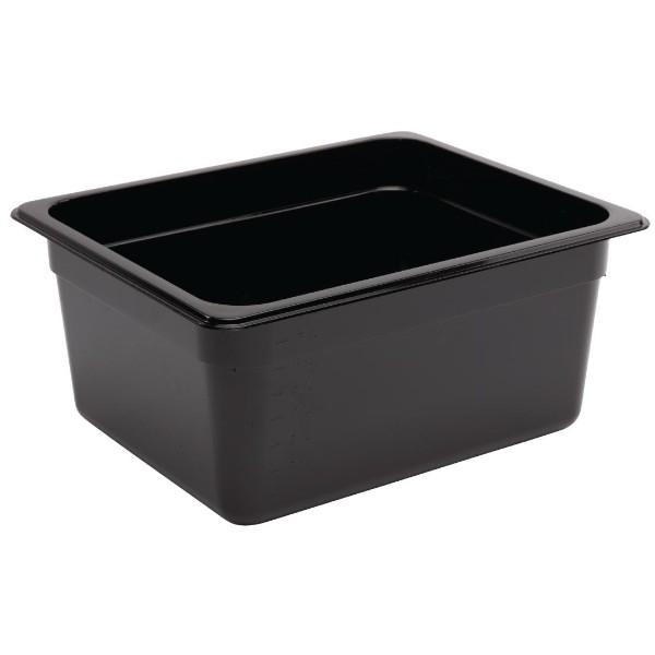 BLACK POLY/CARB 1/2 STEAMPAN CONTAINER 150MM
