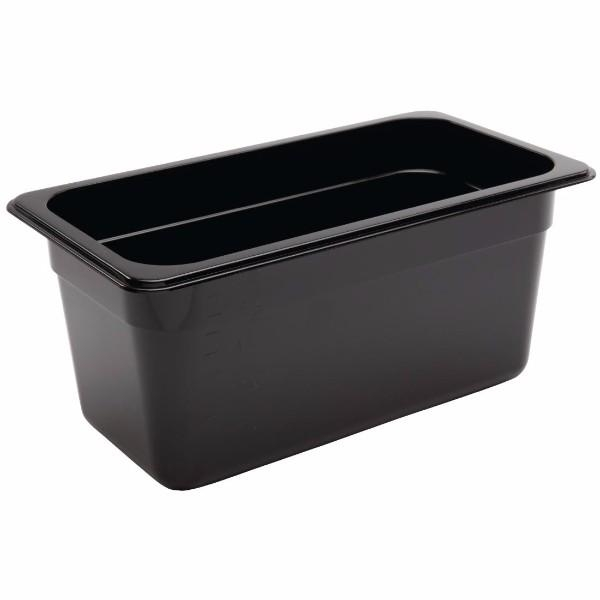 BLACK POLY/CARB 1/3 STEAMPAN CONTAINER 150MM