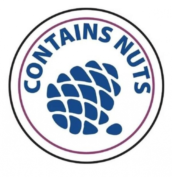 CONTAINS NUTS LABELS STICKERS