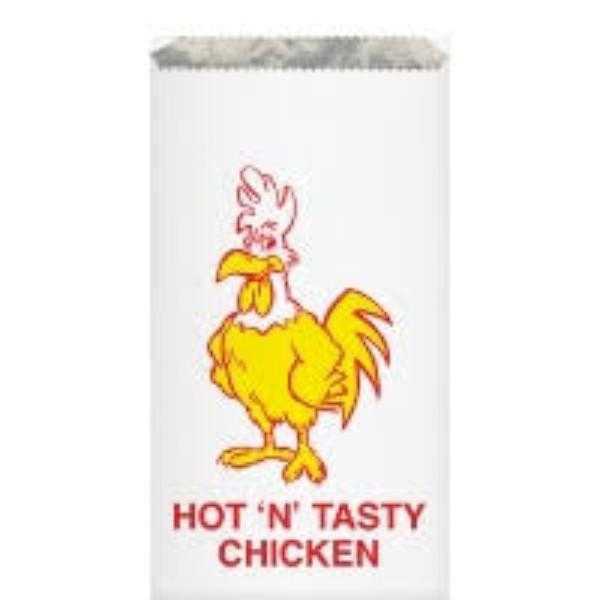 BAG CHICK FOIL SML FRESH N TASTY 210x165x40 (250) - Click for more info
